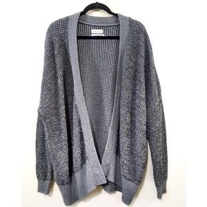 Urban Outfitters Cardigan L Open Front Waffle Knit